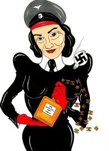 Madame Coco Chanel Scent of the Swastika Humor Chic by aleXsandro Palombo 2