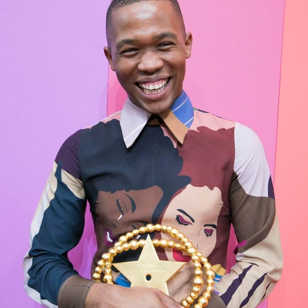 Thebe Magugu, winner of the 2019 LVMH Prize
